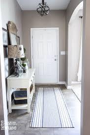ticking stripe foyer runner rug bless er house