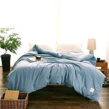 duvet cover zipper covers with zippers sky blue solid color modern style bedding 1 piece zip