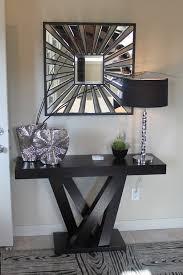 sparkling black victorian mirror
