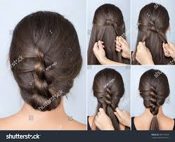 Hair Style Simple simple twisted hairstyle tutorial easy hairstyle stock photo 7881 by wearticles.com