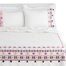 anisa multicolor geo embroidered comforter