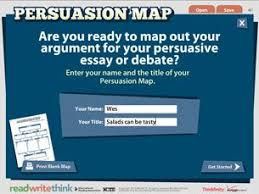 best argumentative essay images school teaching  the persuasion map from readwritethink is an interactive graphic organizer that enables students to map out their arguments for a persuasive essay or