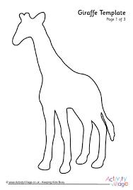 Giraffe Printable Template Giraffe Printables