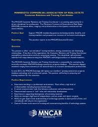 job description commercial data base mncar real estate property manager job description
