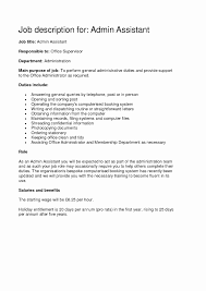 Administrative Assistant Job Description Resume Executive Assistant Sample Resume New Job Description For 23