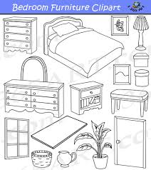 furniture clipart black and white. Perfect Furniture Bedroom Clipart Home Furniture Graphics Commercial  4 School In  Black And With White N