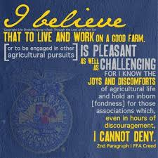 Ffa Quotes Awesome FFA Quote From Creed I Believe That To Live And Work On A Good Farm