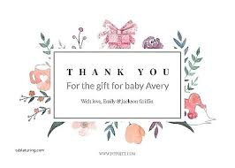 Baby Gift Thank You Note Baby Sample Thank You For Gift Wording Cards Willconway Co