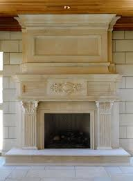 elegant fireplace mantel for warmth atmosphere classic granite style artistic shape designer electric fireplace mantel
