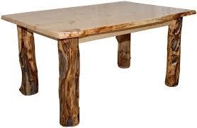 Rustic Aspen Log Dining Table In Various Sizes