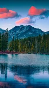 Mountains, Pine Trees, Mount Lorette ...