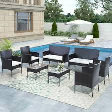 8 piece outdoor garden rattan patio