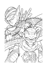 Dragonball Paradijs Kleurplaatkleurplatenkleurboek 4