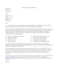 Finance Internship Cover Letter Nice Ideas Sample Intern Hardware