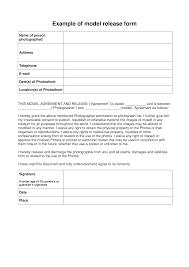 Model Release Form Templates At Allbusinesstemplates Com