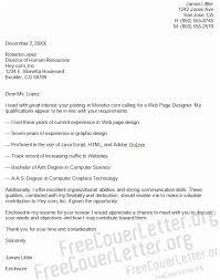 Web Designer Cover Letter Web Page Designer Cover Letter Sample