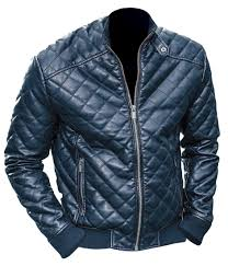 Leather Skin Men Black Diamond Quilted Leather Jacket | Moda ... & Leather Skin Men Black Diamond Quilted Leather Jacket Adamdwight.com