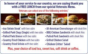 texas roadhouse veterans day dels