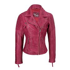 womens vintage slim fitted soft real leather las biker jacket uk size 6 24 picture 2 of 8 picture 3 of 8