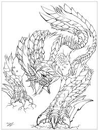 Small Picture monster by juline Myths legends Coloring pages for adults