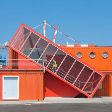 Container Office Design Custom Angled Shipping Container Houses Stairs For Office By Potash