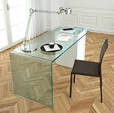 modern glass office desk. Curved Glass Desk L Is A Contemporary Office From The Design Encapsulates What Sees . Modern