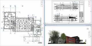architecture building drawing. Building Floorplan And Section View Architecture Drawing