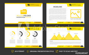 16 9 Template Corporate Presentation Vector Template Modern Business Presentation