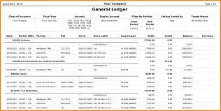 Accounting General Ledger Format 7 Down Town Ken More 2980541369296