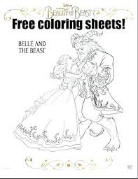 Beauty And The Beast Coloring Pages All Sheet Sheets Theenglesinfo