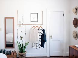 copper hanging garment rack