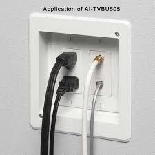 recessed multi gang retrofit tv box for