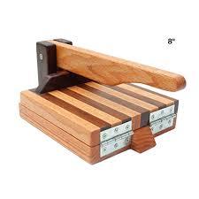8 hardwood tortilla press red oak and