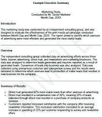 Executive Summary Outline Executive Summary Template Sample Format For Business Plan