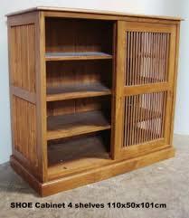 SHOE Cabinet 110x50x101 sliding slat door sept 09 - Baliette Home .