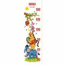 Cross Stitch Height Chart Kit Details About Vervaco 0014848 Height Chart Winnie The Pooh Counted Cross Stitch Kit