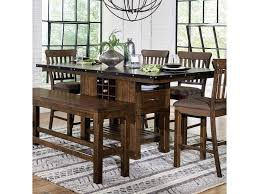 Homelegance Schleiger Industrial Counter Height Table With Wine