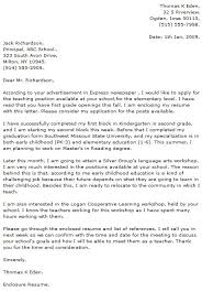 School Administrator Cover Letter Education Cover Letters Education Administrator Cover