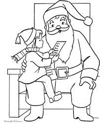 Small Picture Santa Claus Coloring Pages Sitting on Santas Lap