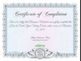 how to make a certificate of completion completion certificate for how to create your udemy course autocad