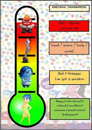 Inside Out Feelings Chart Printable Inside Out Emotional Thermometer Mt Social Emotional