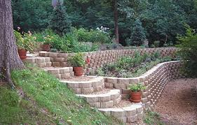 Small Picture Contemporary Garden Retaining Wall With Wooden Walls And Patio