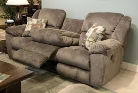 dual reclining sofa with drop down table imagehurghada com intended for microfiber plan 3