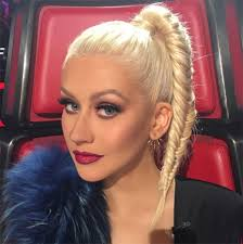 christina aguilera s hair on the voice fun fishl braid how to hollywood life