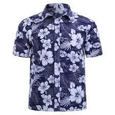 Shirt Design Flower Men Floral Printed Short Sleeve Shirts