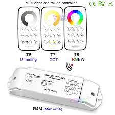 bc multi zone control led dimming cct rgb max 3 3a rf wireless remote receiver controller for led strip light dc12v 24v