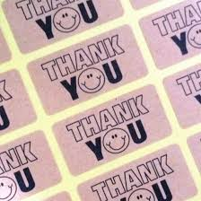 <b>120pcs NEW</b> thank you smile seal label sticker for <b>handmade</b> ...