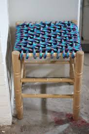 How To Make a Colorful Woven Stool