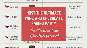 Wine And Chocolate Pairings Chart Host The Ultimate Wine Chocolate Pairing Party For The