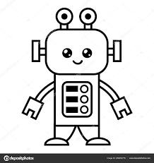 Libro Colorare Bambini Robot Vettoriali Stock Ksenyasavva